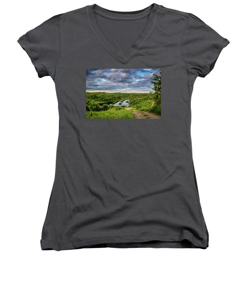 Kentucky Hills And Lake Women's V-Neck