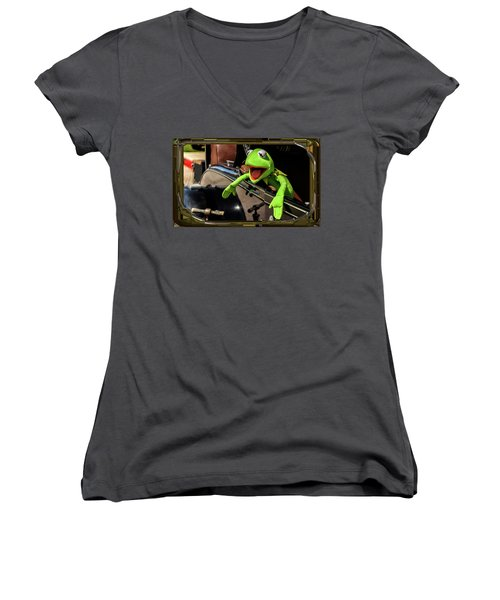 Kermit In Model T Women's V-Neck