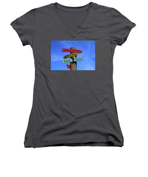 Key West 165 Miles Women's V-Neck T-Shirt