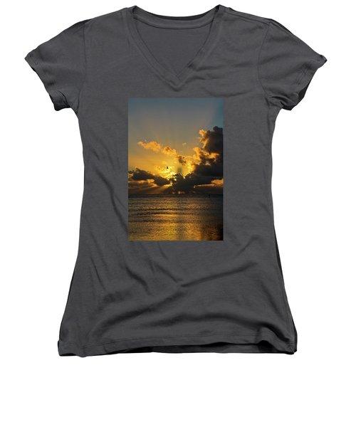 Key West Sunrise 39 Women's V-Neck