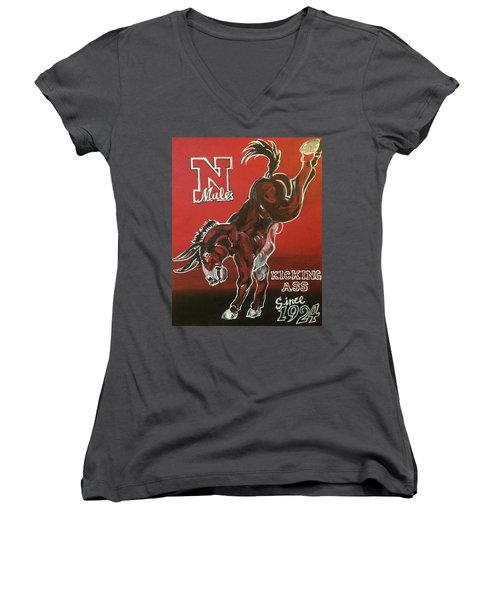 Kicking Ass Women's V-Neck (Athletic Fit)
