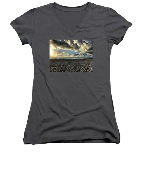 Kicking Back Women's V-Neck (Athletic Fit)