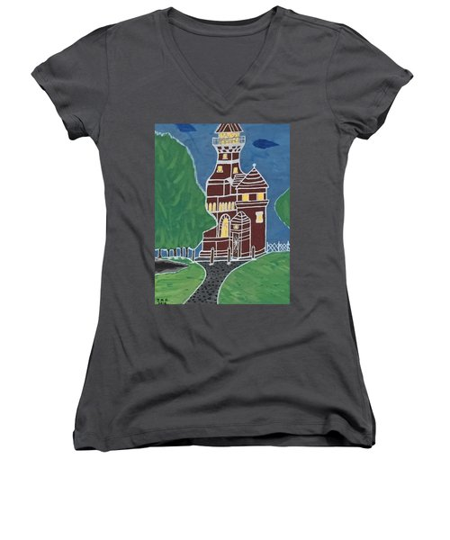 Kiel Germany Lighthouse. Women's V-Neck T-Shirt
