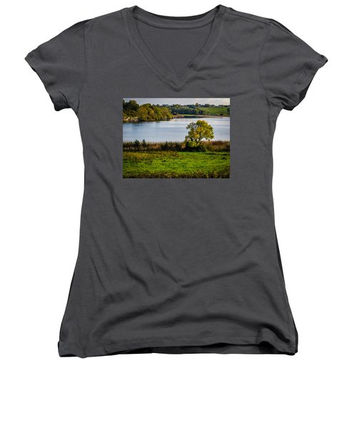 Killone Lake In County Clare, Ireland Women's V-Neck