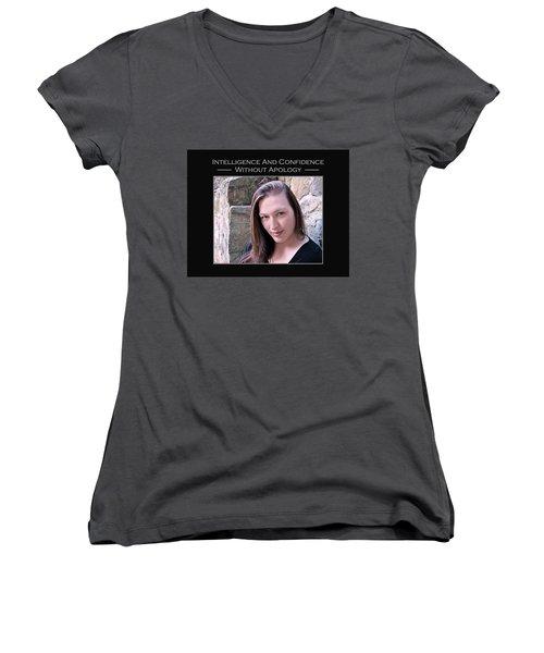 Kimani 1-2-112 Women's V-Neck T-Shirt (Junior Cut) by David Miller