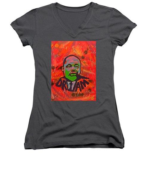 King Dreaming Women's V-Neck T-Shirt (Junior Cut) by Miriam Moran
