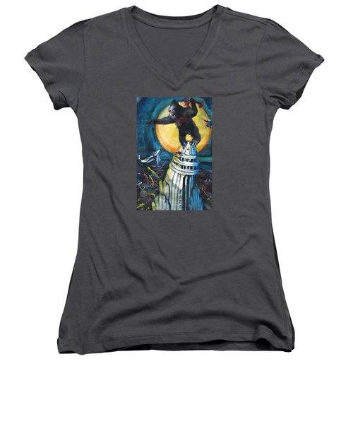 King Kong Women's V-Neck T-Shirt
