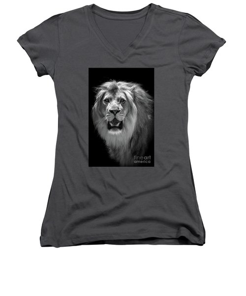 King Of The Jungle Women's V-Neck (Athletic Fit)