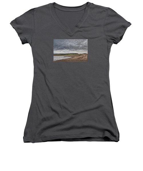 Kingdom Of Fife Women's V-Neck T-Shirt (Junior Cut) by Jeremy Lavender Photography
