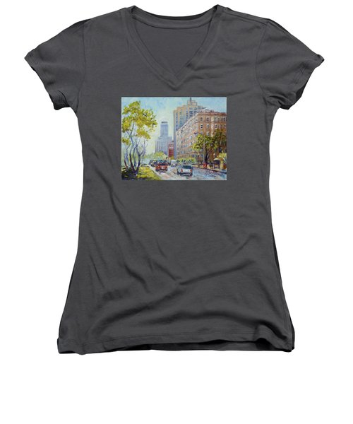 Kingshighway Blvd - Saint Louis Women's V-Neck (Athletic Fit)