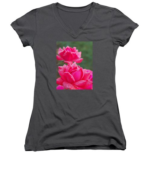 Kissed By Dew Women's V-Neck T-Shirt