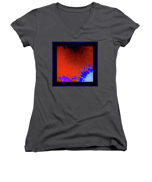 Kissed By The Sun Women's V-Neck T-Shirt (Junior Cut) by Sian Lindemann