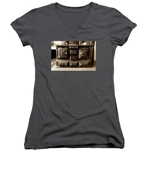 Women's V-Neck T-Shirt (Junior Cut) featuring the photograph Kitchener by Greg Fortier