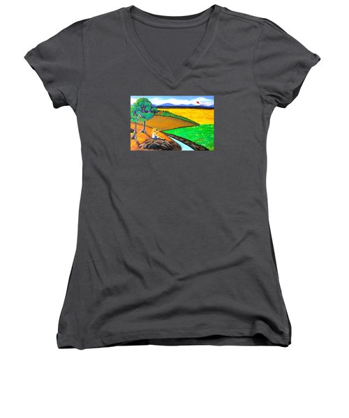 Kite Women's V-Neck T-Shirt
