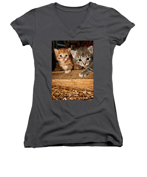 Kittens Women's V-Neck