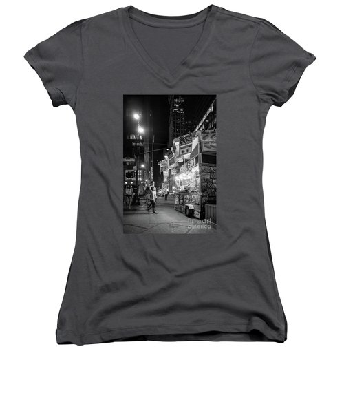 Knish, New York City  -17831-17832-bw Women's V-Neck