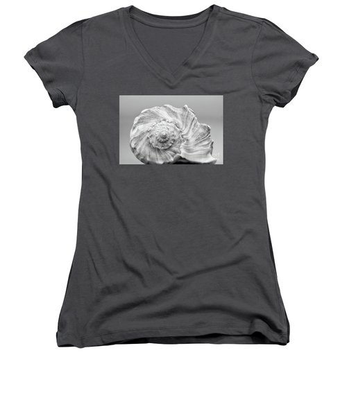 Women's V-Neck T-Shirt (Junior Cut) featuring the photograph Knobbed Whelk by Benanne Stiens