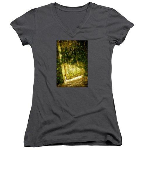 A Little Light Women's V-Neck T-Shirt (Junior Cut) by Denis Lemay