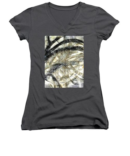Women's V-Neck T-Shirt (Junior Cut) featuring the painting Knotty by Vicki Ferrari