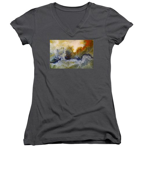 Knowing Women's V-Neck T-Shirt (Junior Cut) by Theresa Marie Johnson