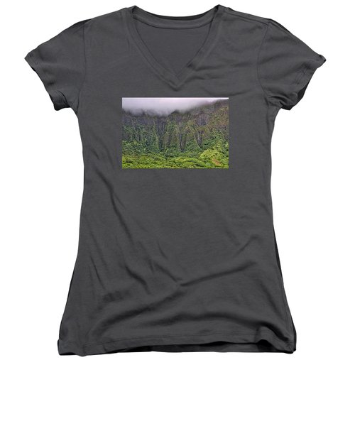 Ko'olau Waterfalls Women's V-Neck (Athletic Fit)