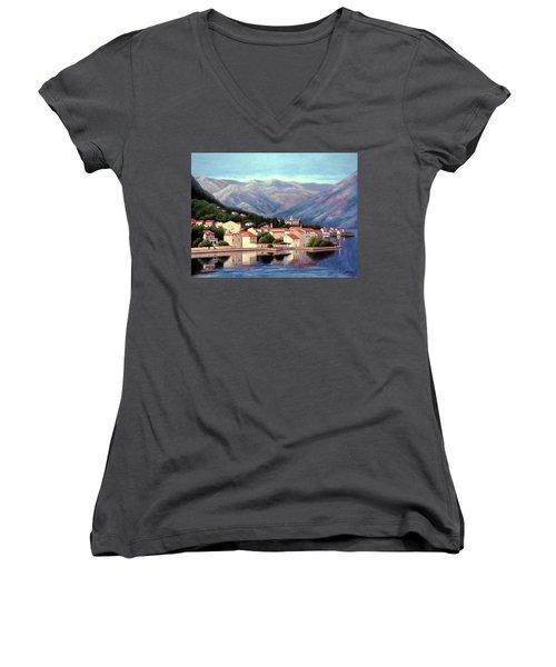 Kotor Montenegro Women's V-Neck T-Shirt