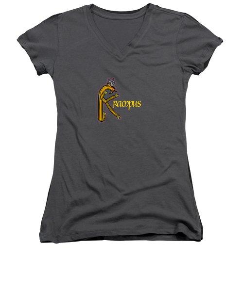 Krampus Women's V-Neck T-Shirt