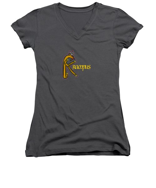 Krampus Women's V-Neck (Athletic Fit)