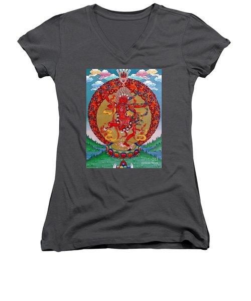 Kurukula Women's V-Neck T-Shirt (Junior Cut) by Sergey Noskov