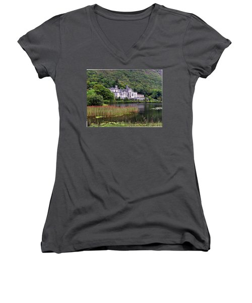 Kylemore Abbey, County Galway, Women's V-Neck