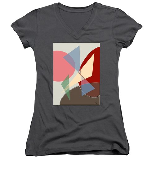 L Women's V-Neck T-Shirt