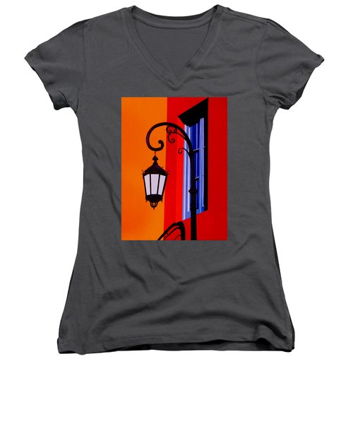 La Boca Cityscape #39 Women's V-Neck T-Shirt