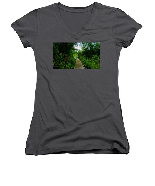 La Budde Boardwalk Women's V-Neck T-Shirt
