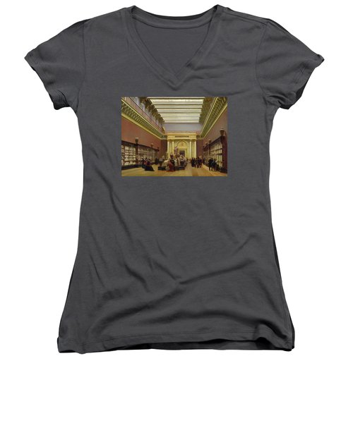 La Galerie Campana Women's V-Neck T-Shirt (Junior Cut)