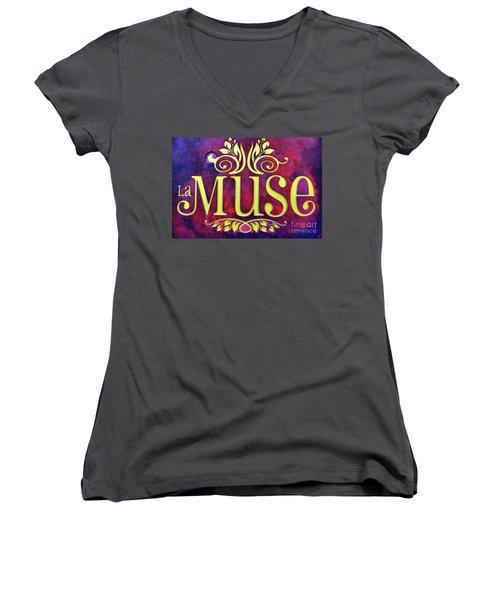 La Muse, Sign Women's V-Neck