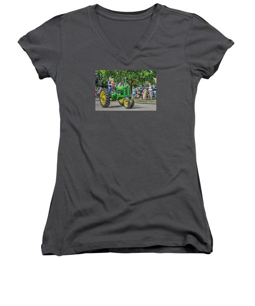 Labor Day And John Deere Women's V-Neck T-Shirt