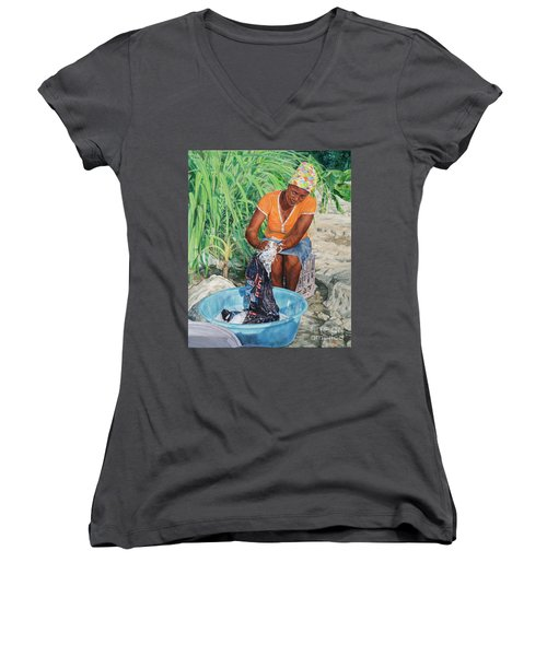 Labour Of Love Women's V-Neck (Athletic Fit)