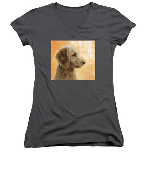 Labradoodle Puppy Women's V-Neck