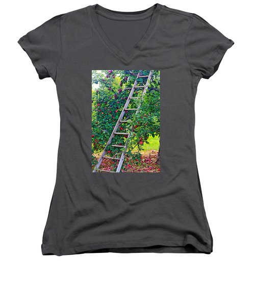Ladder To The Top Women's V-Neck