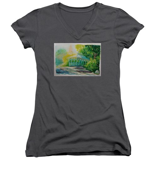 Ladies Pavilion, Cpnyc Women's V-Neck (Athletic Fit)