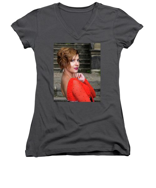 Lady In Red Women's V-Neck