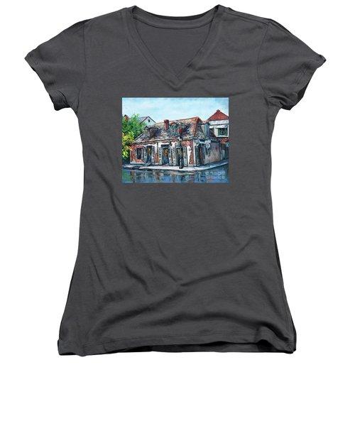 Lafitte's Blacksmith Shop Women's V-Neck (Athletic Fit)