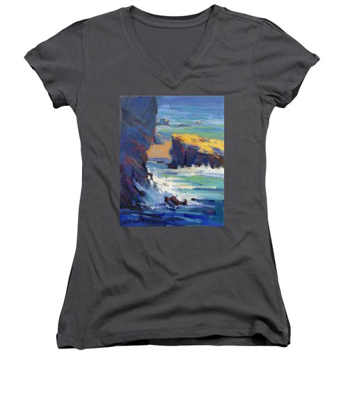 Laguna Rocks Women's V-Neck (Athletic Fit)