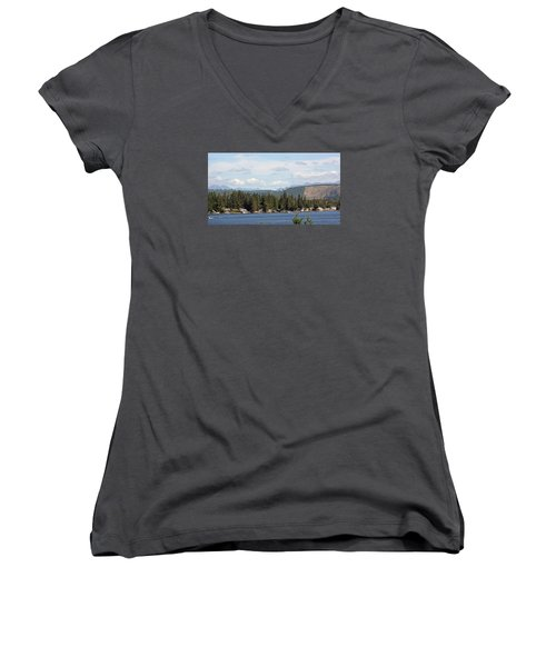 Lake And Mountains Women's V-Neck T-Shirt
