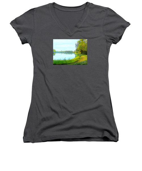 Lake And Woods Women's V-Neck (Athletic Fit)
