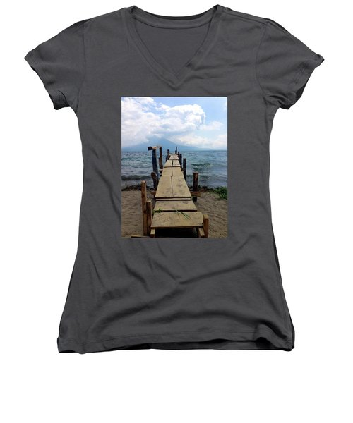 Lake Atitlan Dock Women's V-Neck