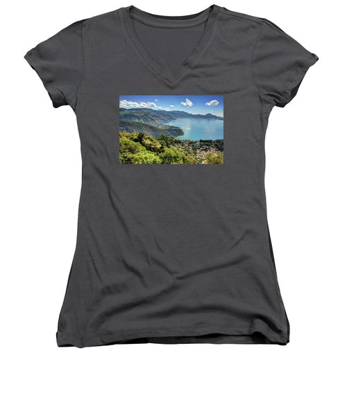 Lake Atitlan Women's V-Neck T-Shirt