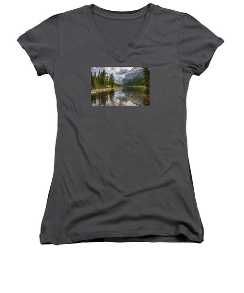 Lake Cavell Women's V-Neck (Athletic Fit)