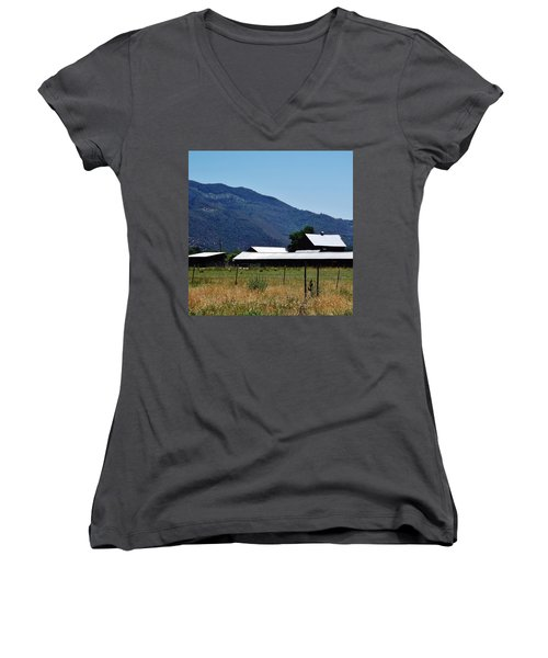 Lake Co 5 Women's V-Neck T-Shirt (Junior Cut) by Andrew Drozdowicz