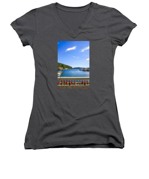 Lake Coeur D'alene Idaho Women's V-Neck